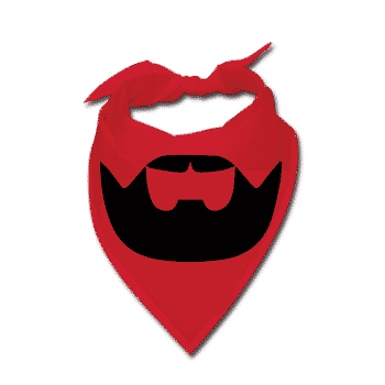 red Beardilizer Bandana