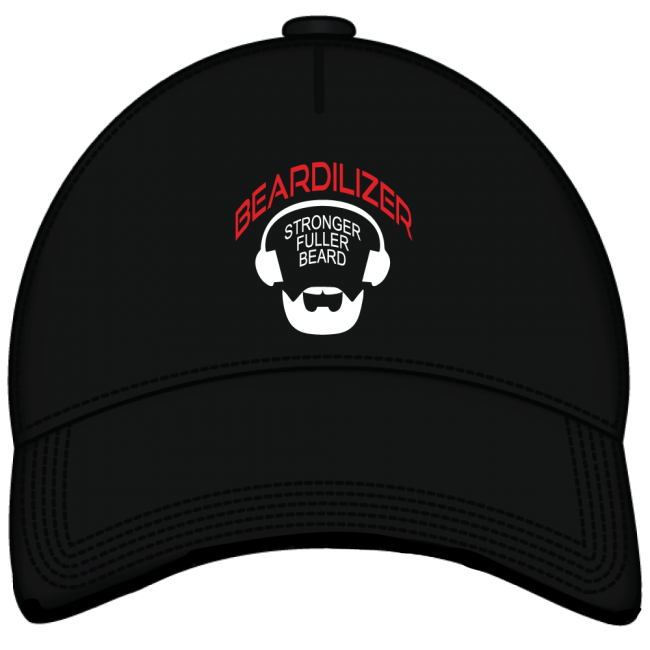 Beardilizer embroidered black cap