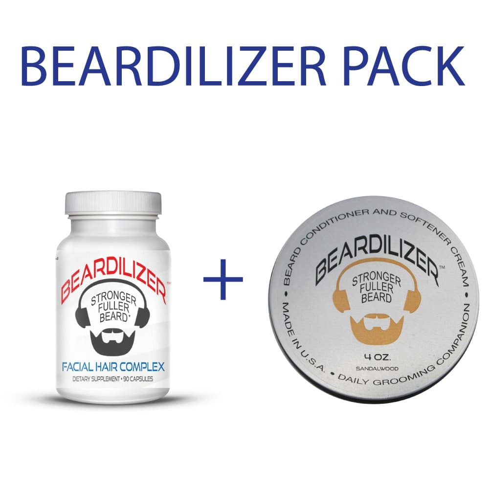 Beard supplement and beard cream value pack