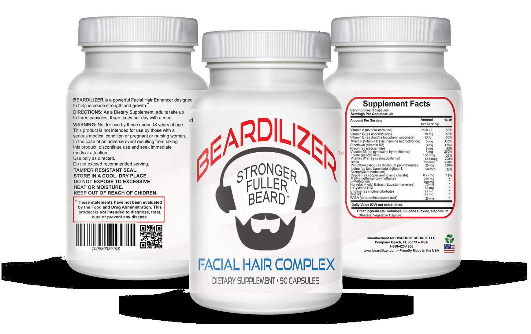 Beard Growth Vitamins