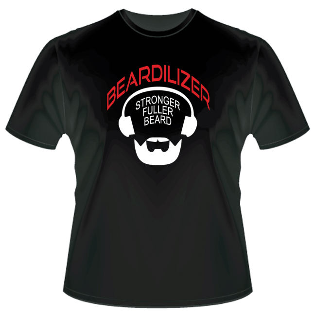 men's Beardilizer logo T-shirt