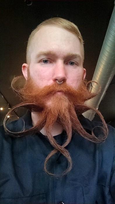 Alan is no stranger to beard wax.