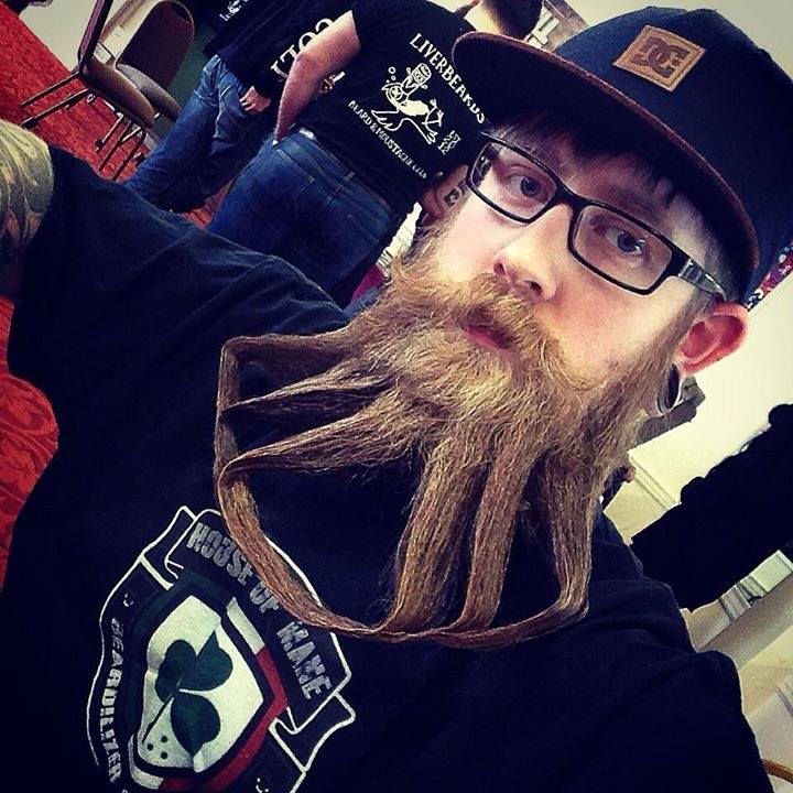 Andy Teague dominant at beard competition.