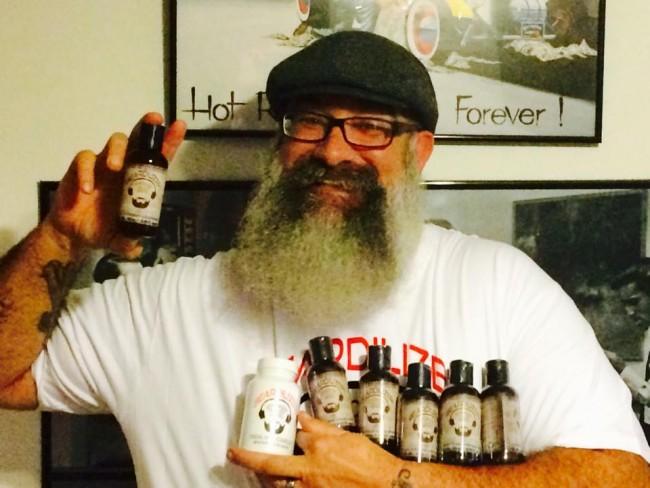 Dennis Morgan with his favorite beard oils.