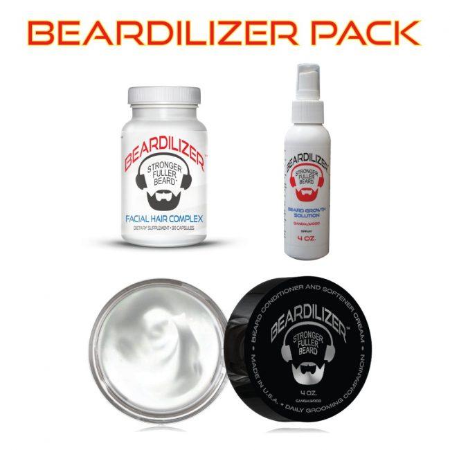 Beard Supplement, Beard Cream and Beard Spray Value Pack