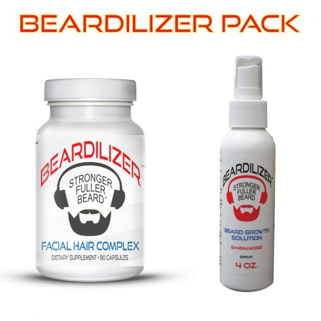 Beard Supplement and Beard Spray Value Pack