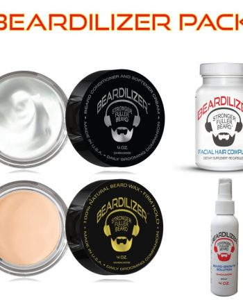 Beard Supplement, Beard Cream, Beard Wax and Beard Spray Value Pack