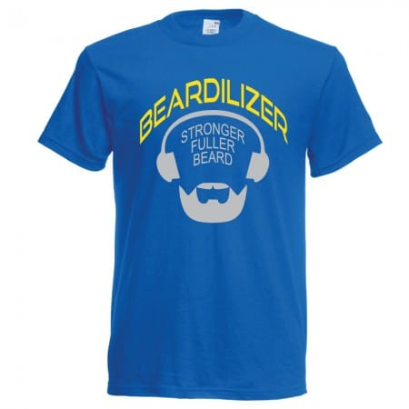 royal blue beardilizer t-shirt