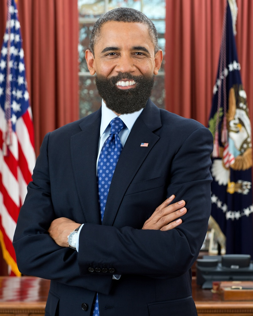 Bearded Barack Obama