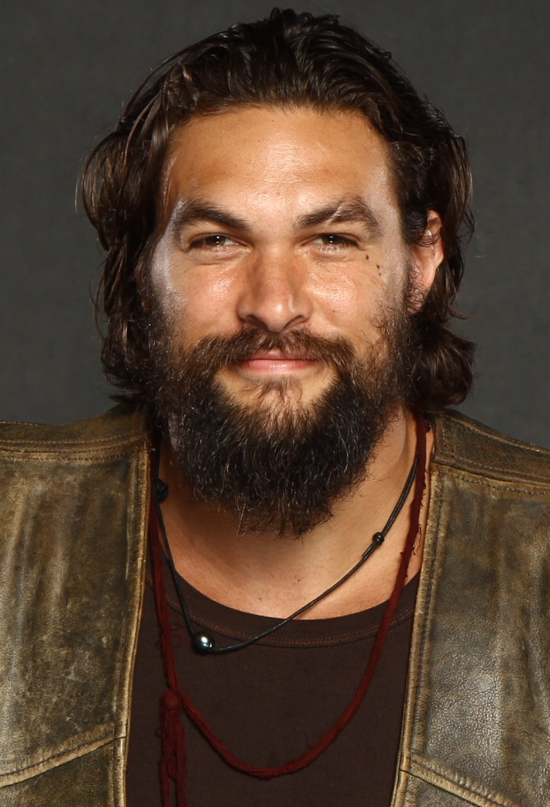 Jason Momoa bearded aquaman