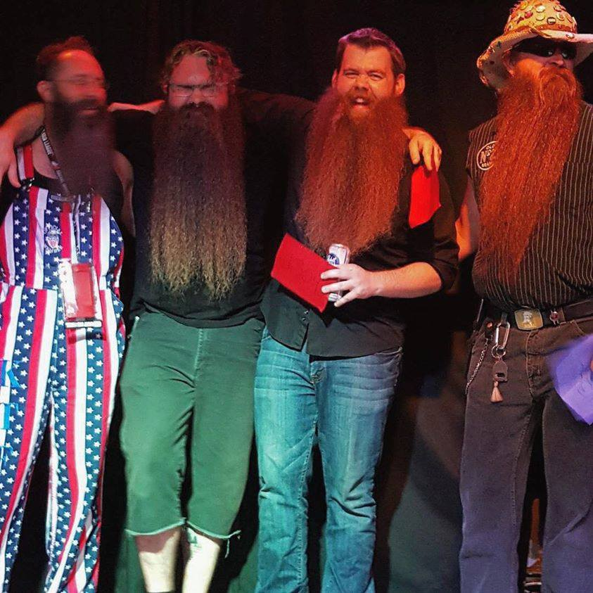 Josh Black at the Oak City Beard & Mustache Assembly Competition