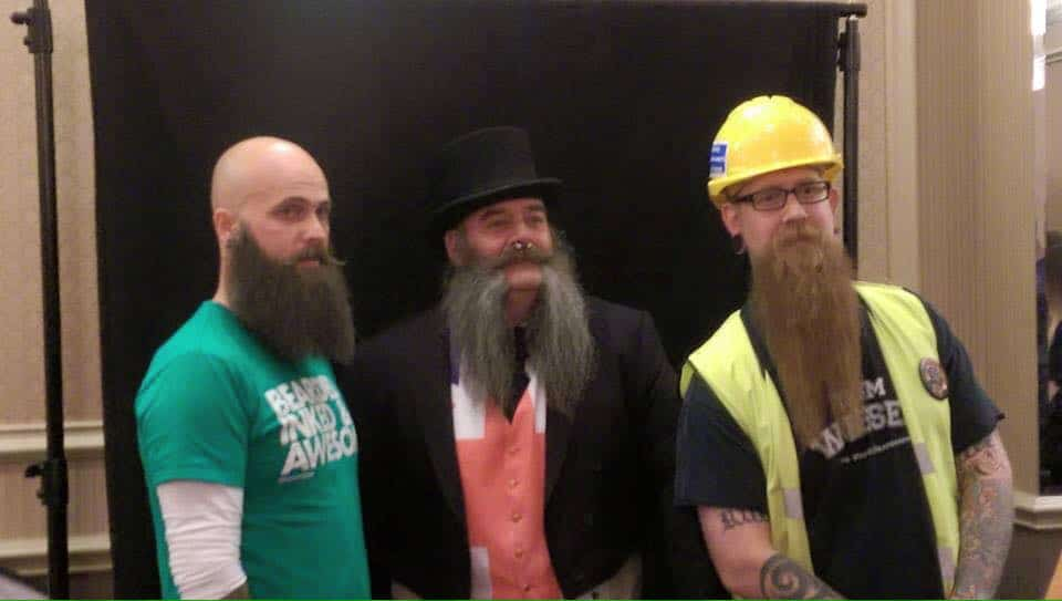 Team Beardilizer at the first Devon and Cornwall Beard and moustache Championships