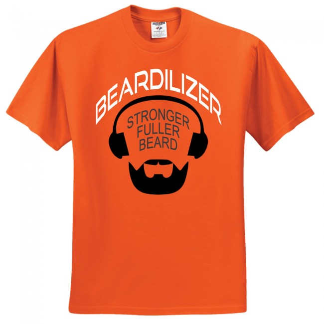 Beardilizer-Orange-T-shirt