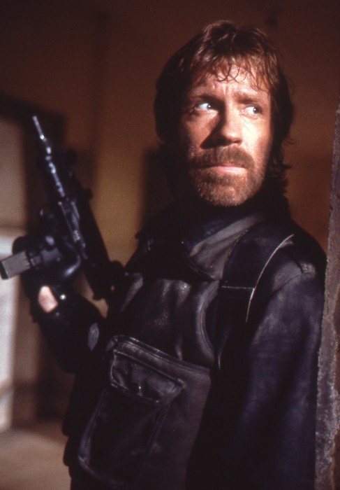 chuck norris and his 80s beard