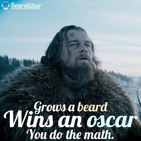 Leo DiCaprio beard oscar