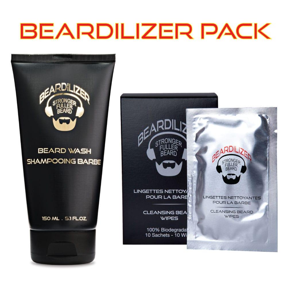 Beardilizer Beard Wash & Beard Cleaning Wipes Set